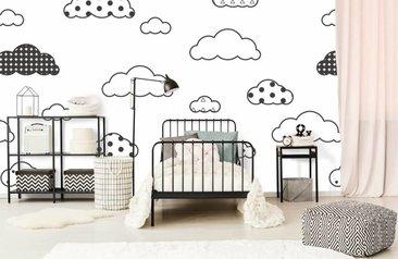 Babykamer Behang Sterren : Baby fotobehang