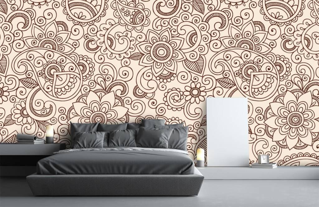 Behang Met Patroon : Behang met een henna patroon fotobehang