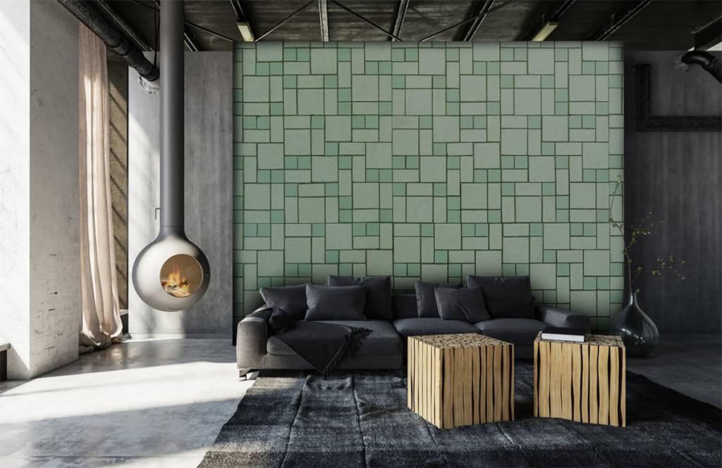 Groen Tegels Outlet : Groene tegels fotobehang