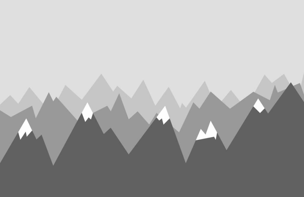 Babykamer Behang Grijs : Behang met grijze bergen fotobehang