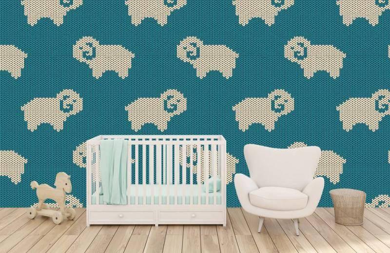 Schilderijen Kinderkamer Voorbeelden : Behang in de babykamer schattige voorbeelden fotobehang