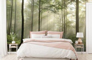 Slaapkamer Groen Wit : Fotobehang voor op de slaapkamer fotobehang