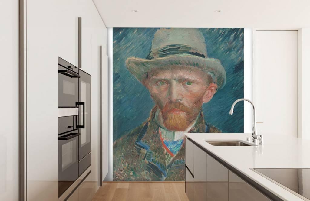 Van Gogh Behang : Custom foto behang van gogh galaxy kaart abstract schilderen