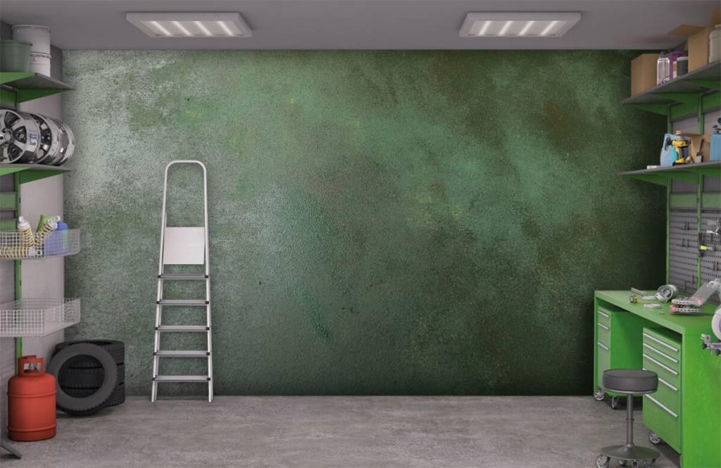 Babykamer Behang Groen : Groen betonlook fotobehang fotobehang