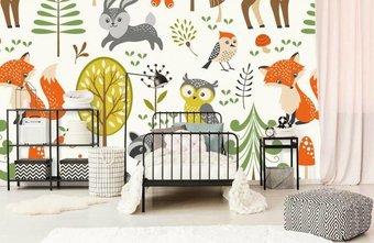 Behang Kinderkamer Regenboog : Fotobehang voor de babykamer fotobehang