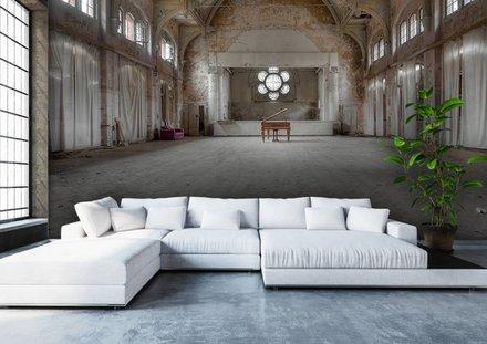 Zaal in oud sanatorium