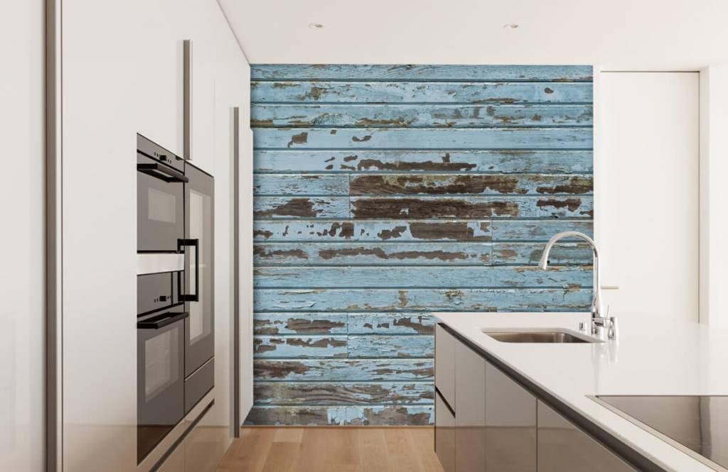 Fotobehang hout behang inspiratie houtlook van steigerhout
