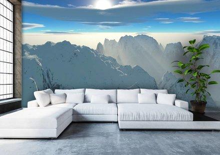 Besneeuwde bergtoppen panorama