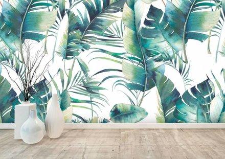 Palmbladeren groen