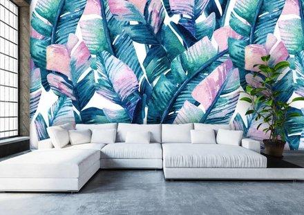 Palmbladeren regenboog
