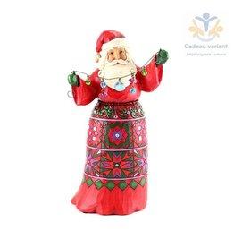 Jim Shore Kerstman met kristal guirlande muziek