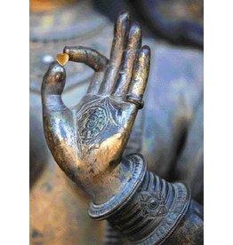 Zintenz Boeddha hart in hand briefkaart