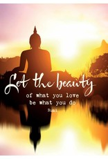 Zintenz Let the beauty of what you love be what you do Rumi briefkaart