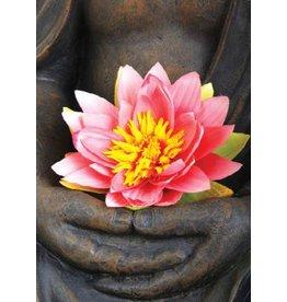 Zintenz Lotusbloem Boeddha briefkaart