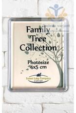 Fotolijst pasfoto  magneet  4 x 5 cm
