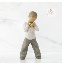 Willow Tree Beeld jongen hart van goud