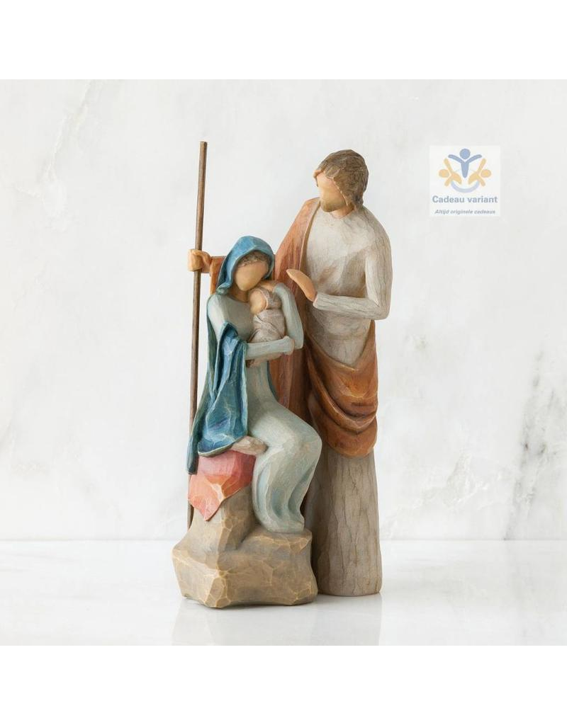 Willow Tree BeeldJozef Maria en Jezus -The Holy Family -