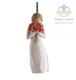 Willow Tree Ornament omringd door liefde