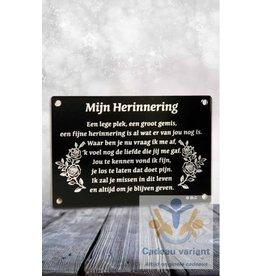 Gedenksteen mijn herinnering