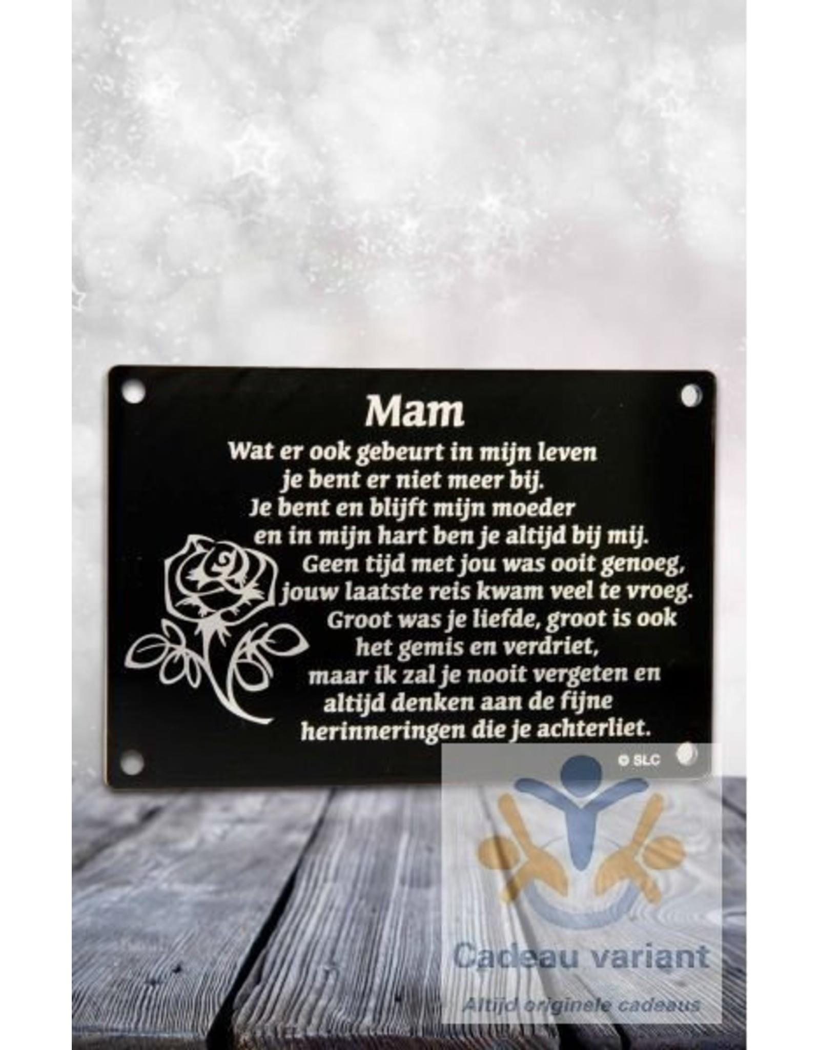 Gedenkplaat mam