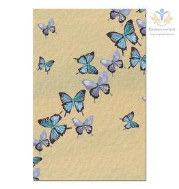 Tree free cards Wenskaart Blue butterfly