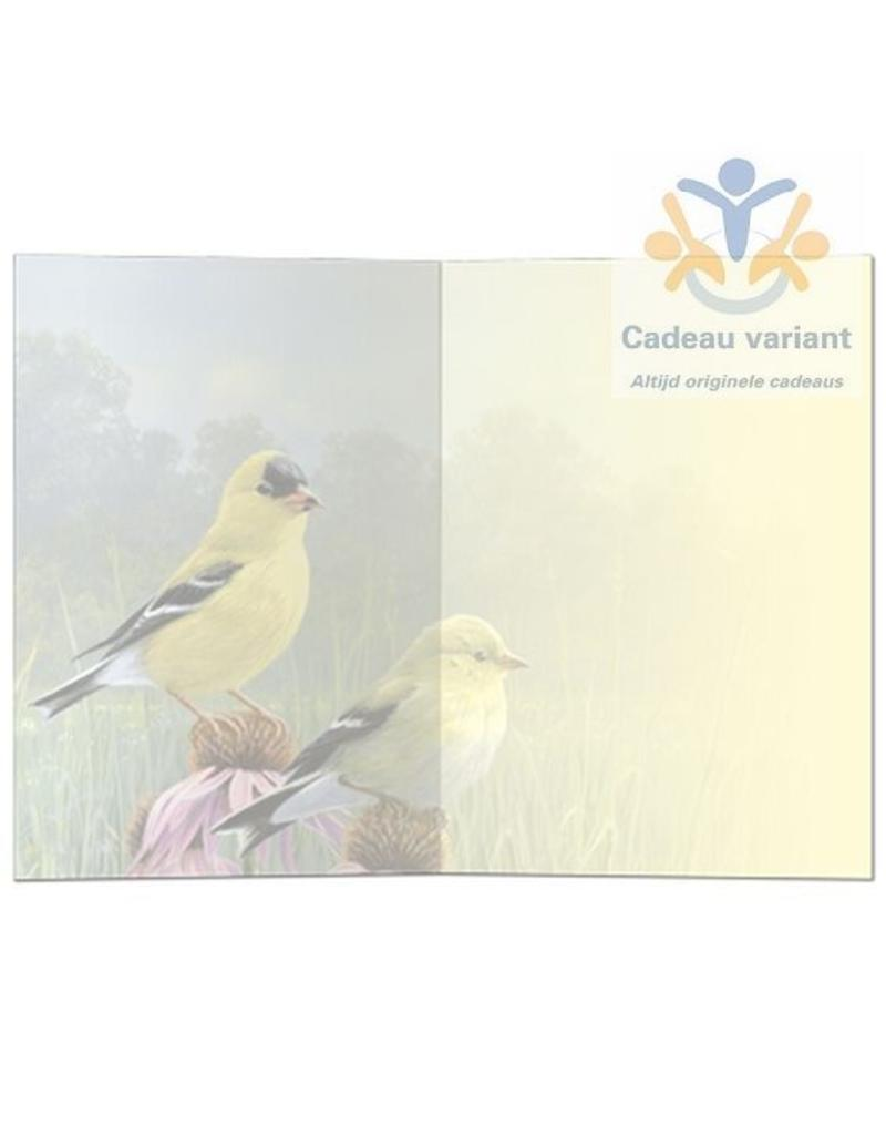 Tree free cards Wenskaart Goldfinch & Cone