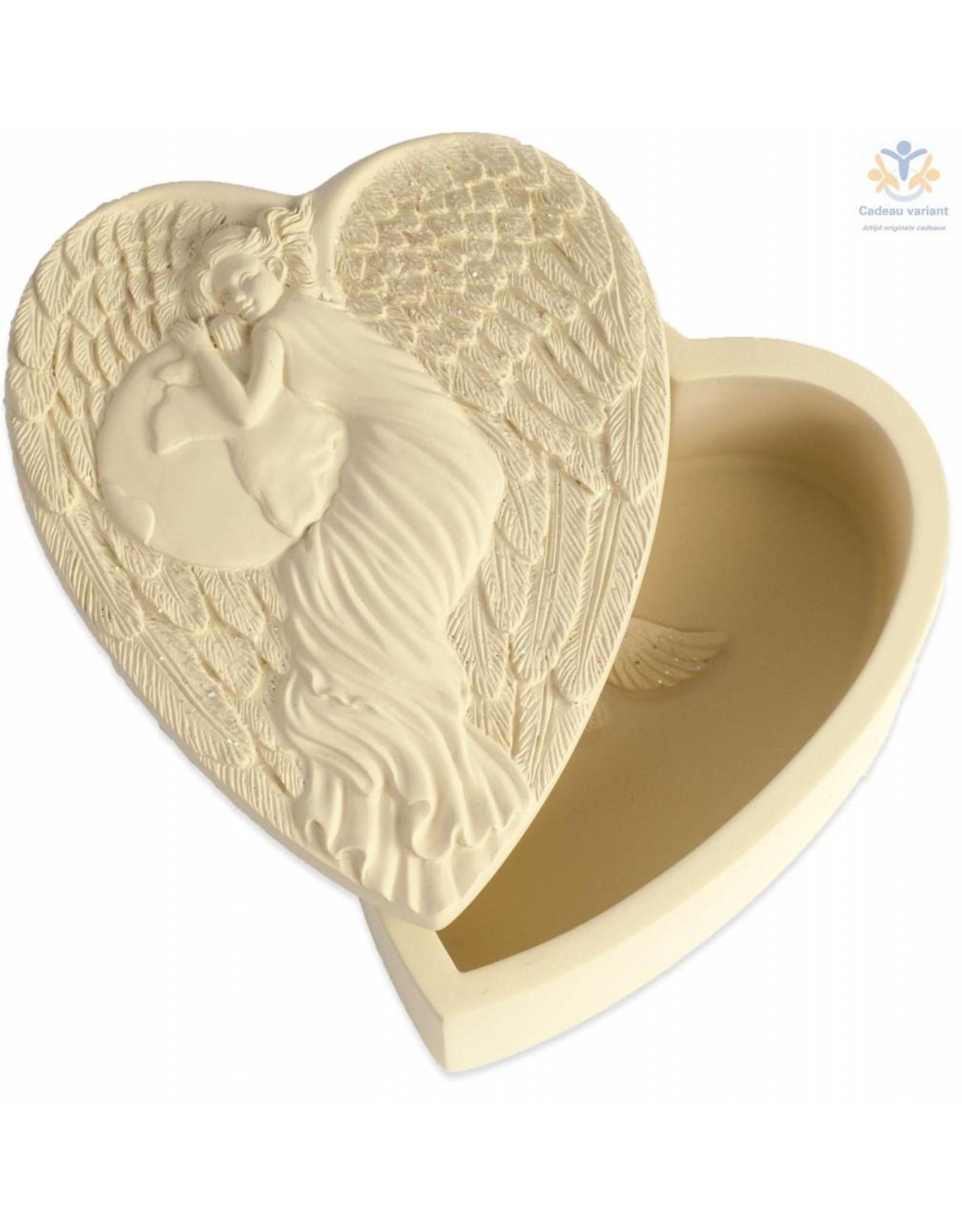 Angelstar Engel hartvormig wensendoosje