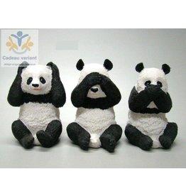 Panda horen zien zwijgen set