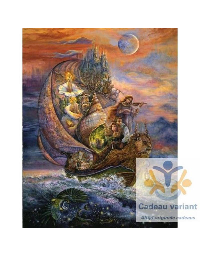 Josephine Wall Voyage to Murrlis Sea tegel 20 x 25 cm