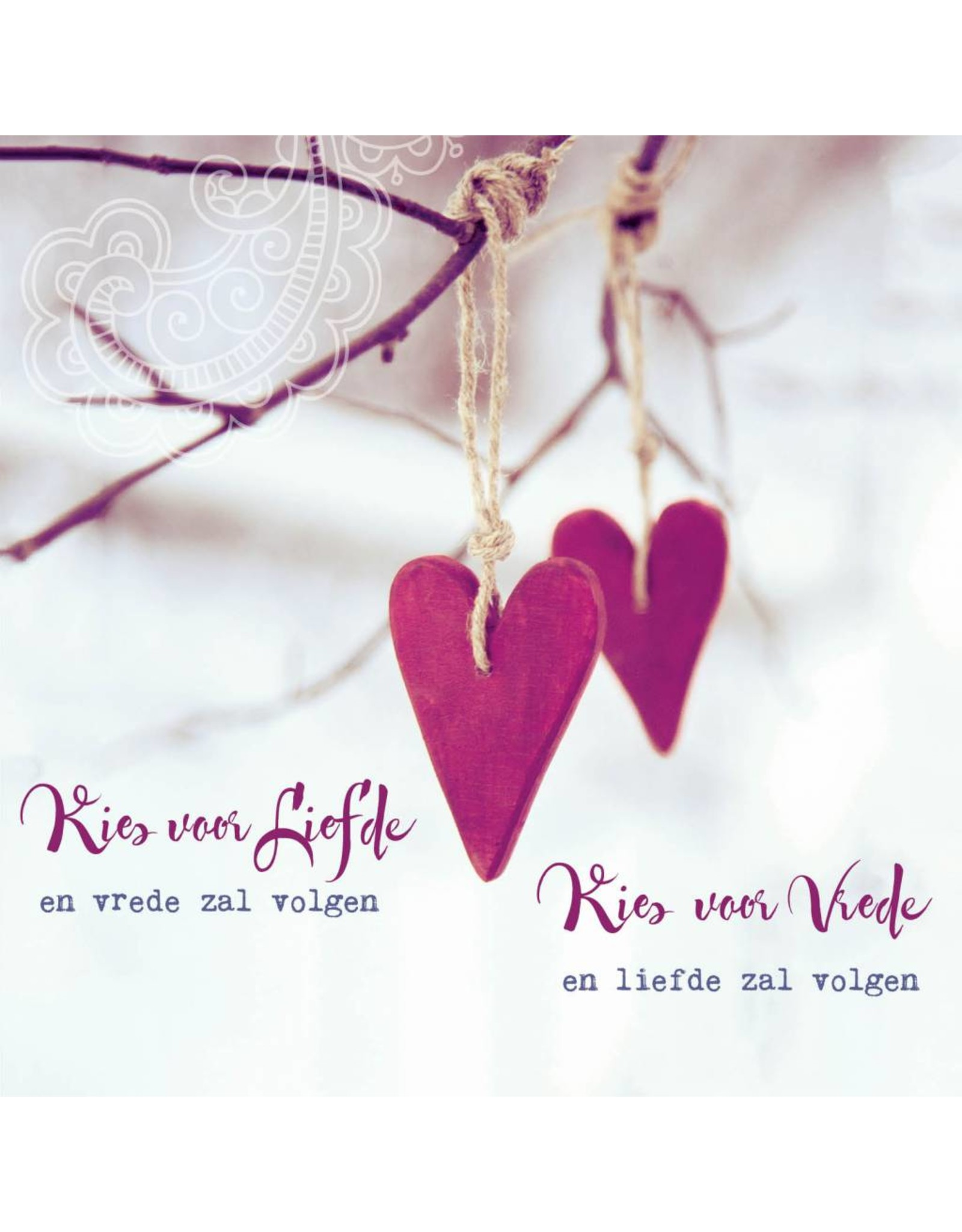 Zintenz Wenskaart kies voor liefde