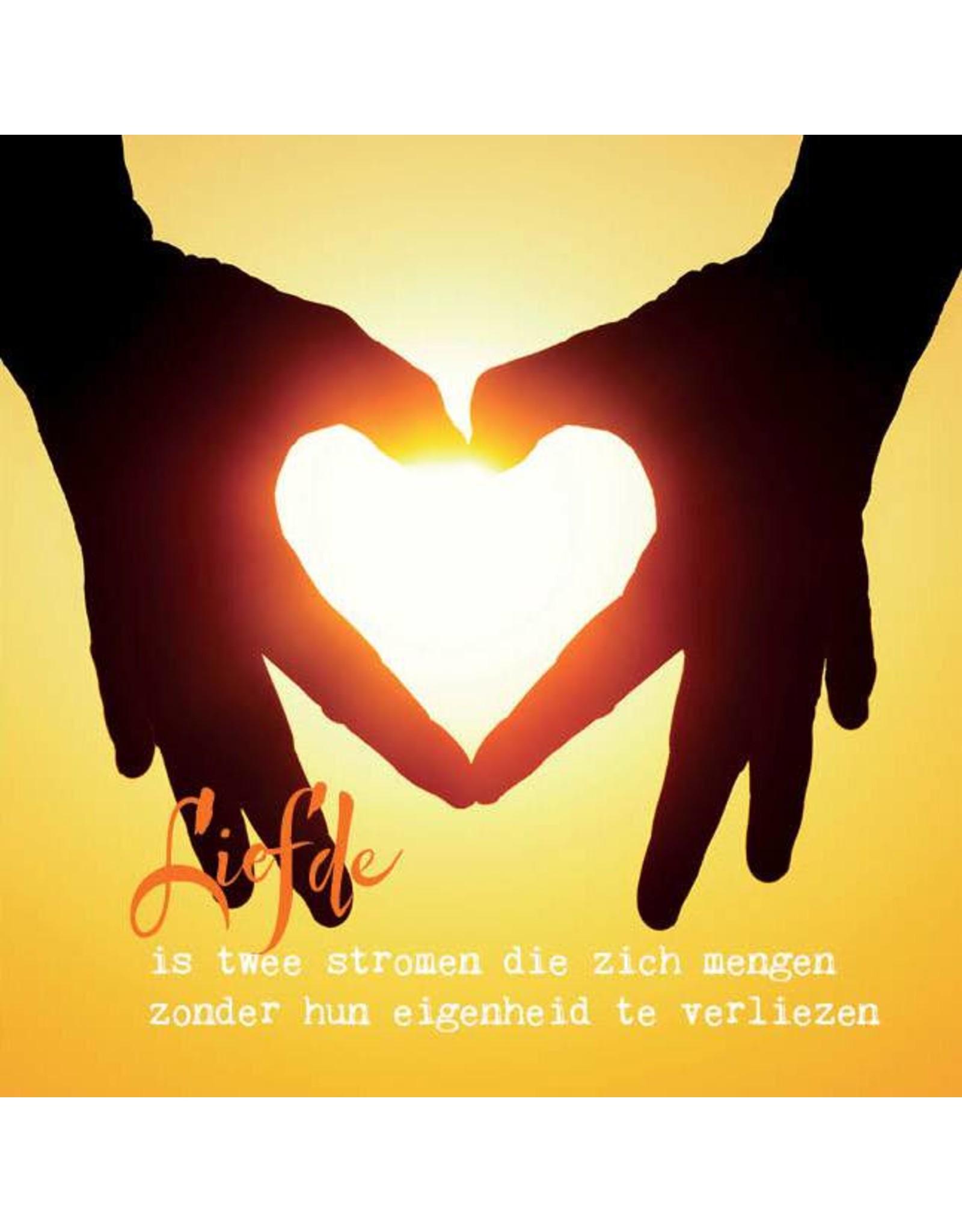 Zintenz Wenskaart liefde is twee stromen