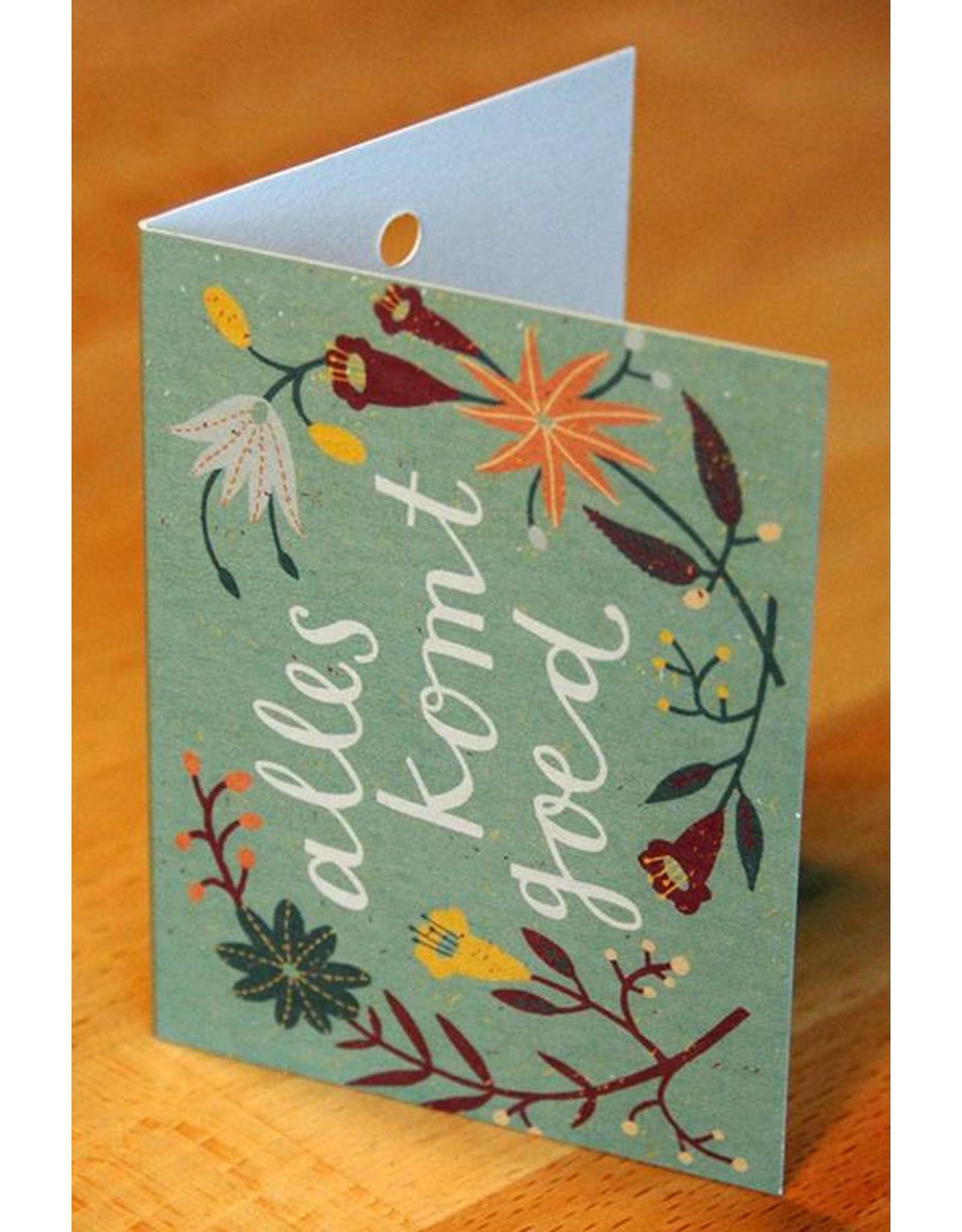 Zintenz Geschenkkaart Alles komt goed