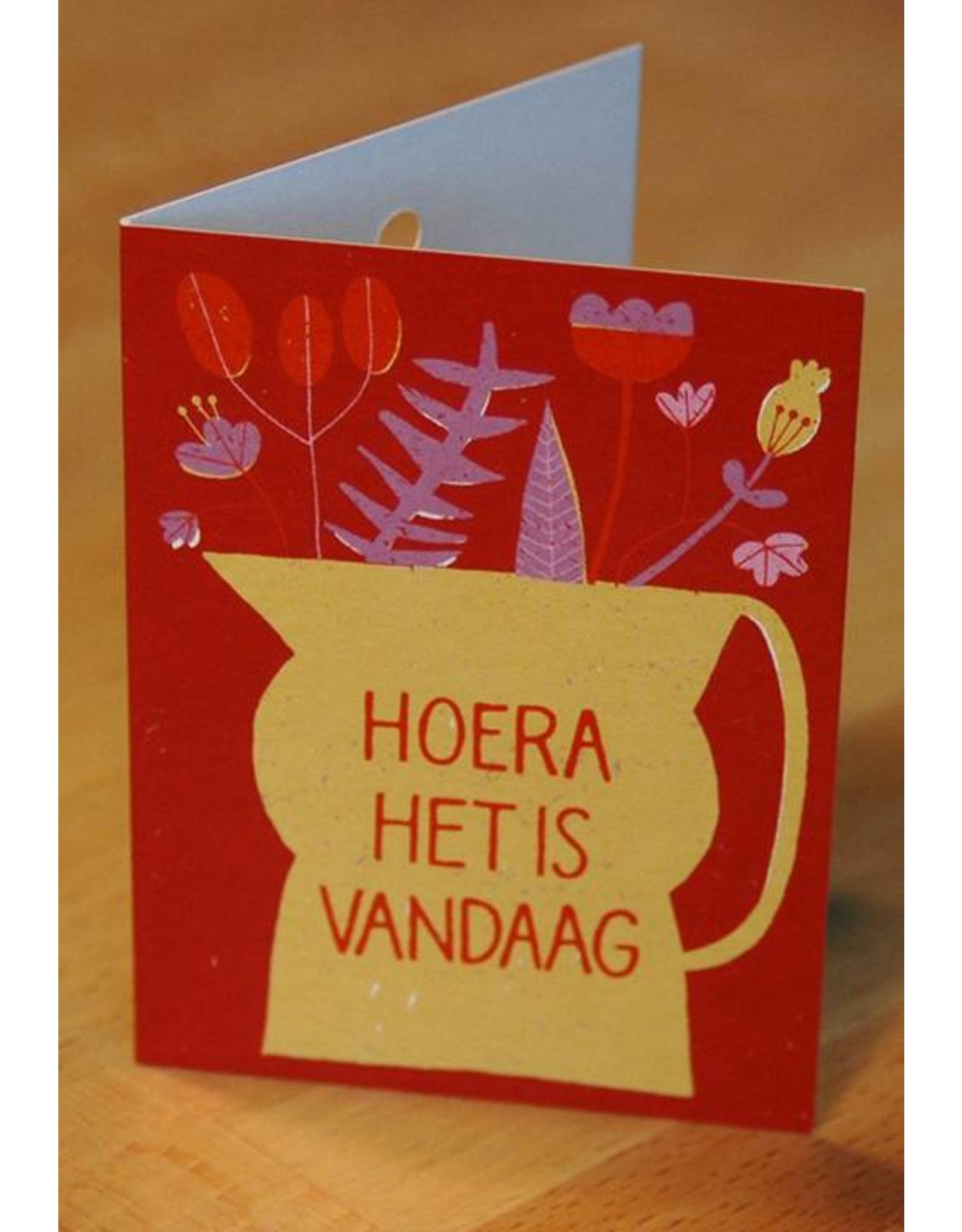 Zintenz Geschenkkaart Hoera het is vandaag