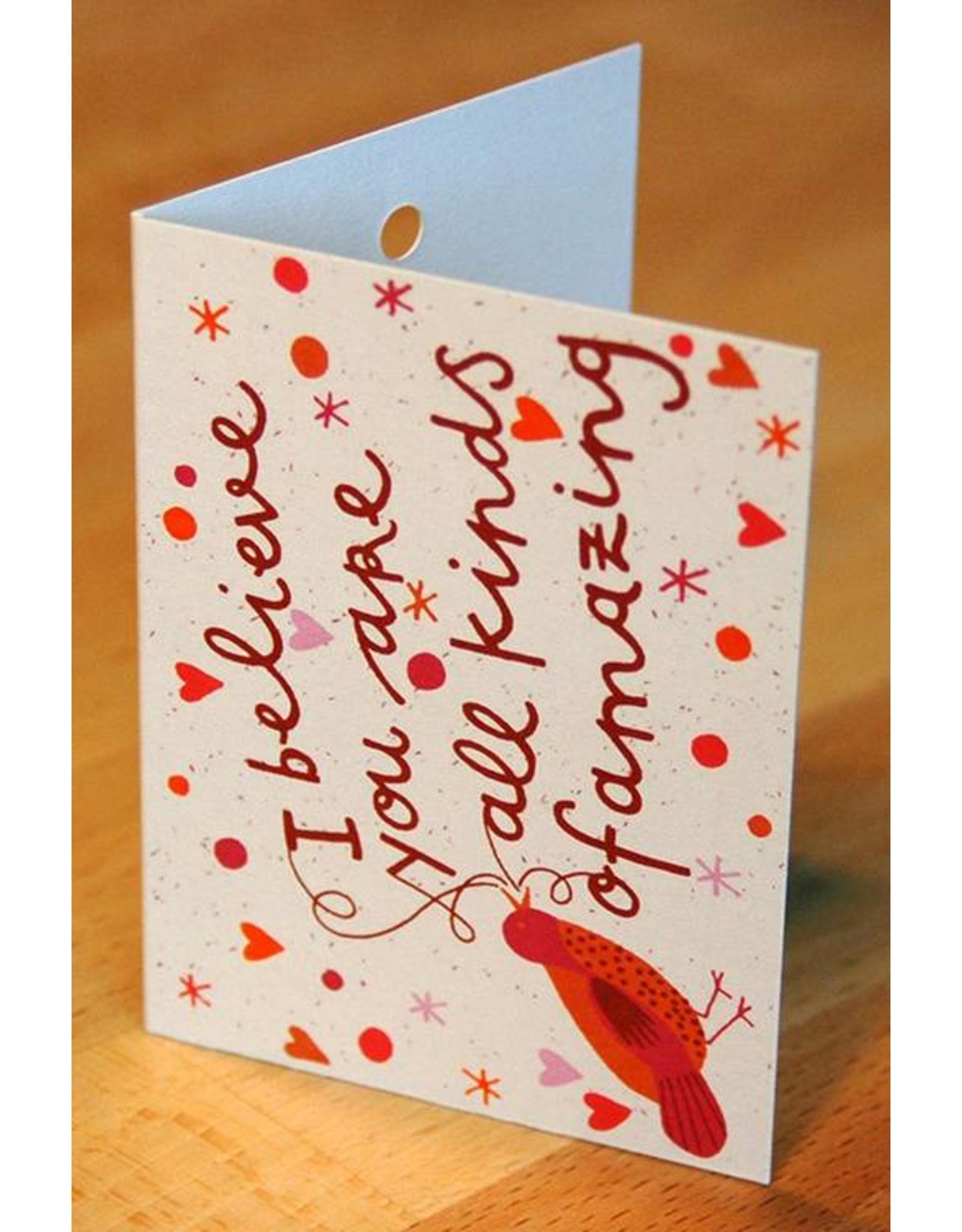Zintenz Geschenkkaart I believe you