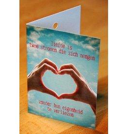Zintenz Geschenkkaart Liefde is 2 stromen