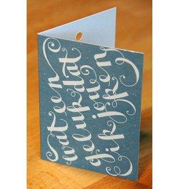 Zintenz Geschenkkaart Wat een geluk