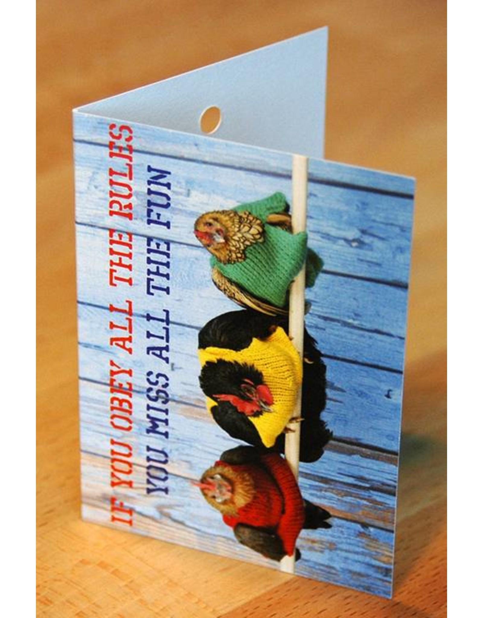 Zintenz Geschenkkaart If you obey all the rules