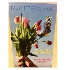 Mooi mens kaarten Beautiful You these tulips are espacially for you