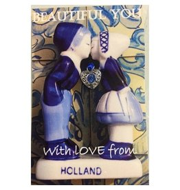Mooi mens kaarten Beautiful You with love from Holland