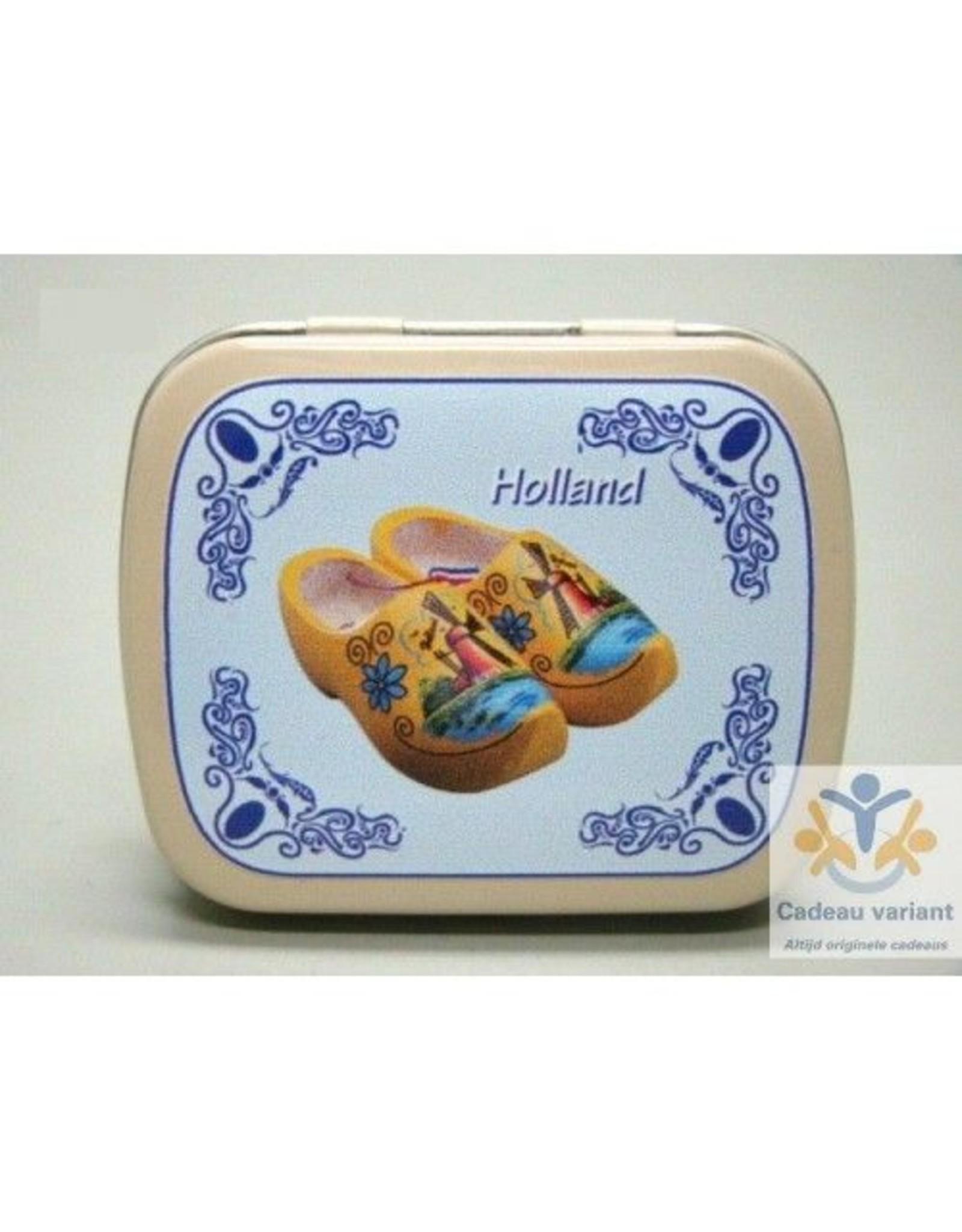 Klompen Holland pepermunt pillendoosje