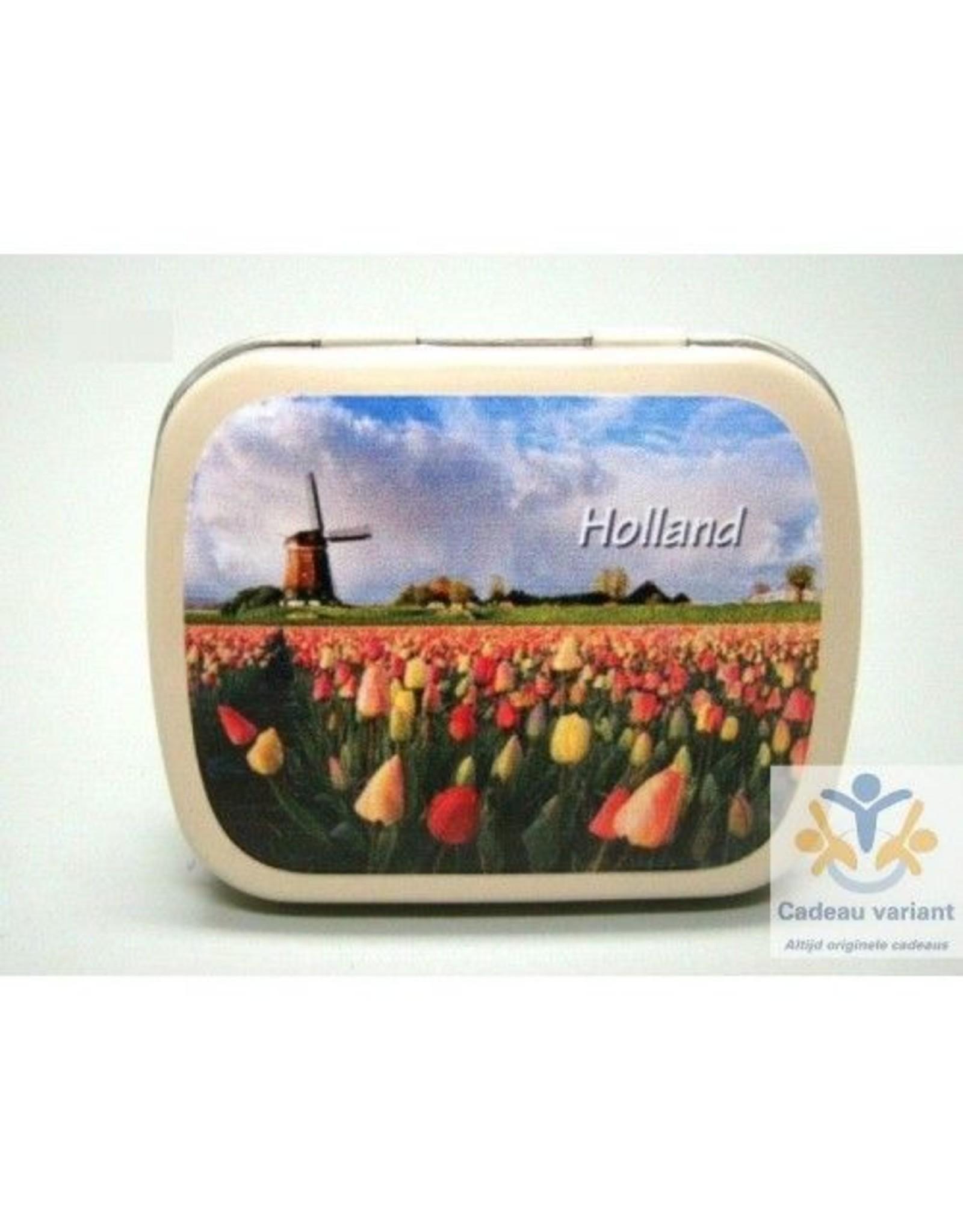 Tulpen Holland pepermunt pillendoosje