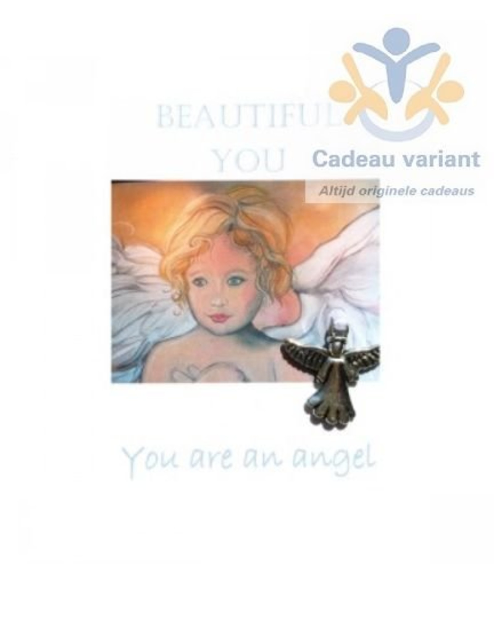 Mooi mens kaarten Beautyful You you are an angel