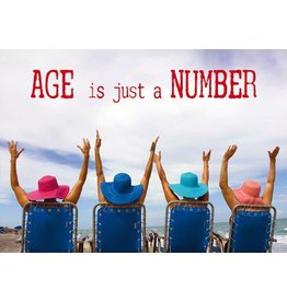 Zintenz Age is just a number briefkaart