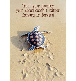 Zintenz Trust your journey briefkaart  schildpad