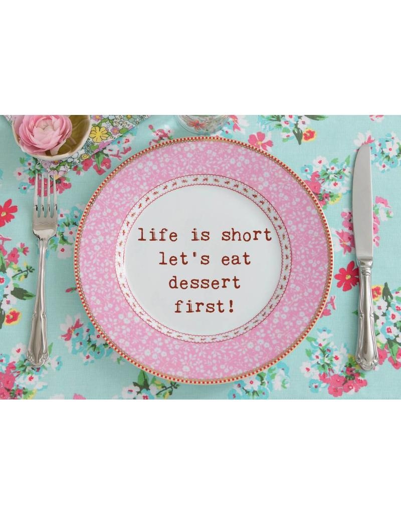 Zintenz Life is short briefkaart