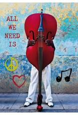 Zintenz All we need is love briefkaart