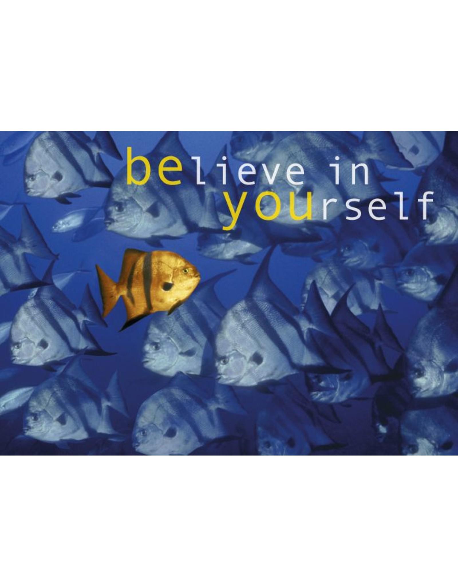 Zintenz Believe in yourself briefkaart