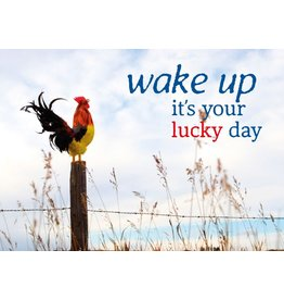 Zintenz Wake up it's your lucky day briefkaart