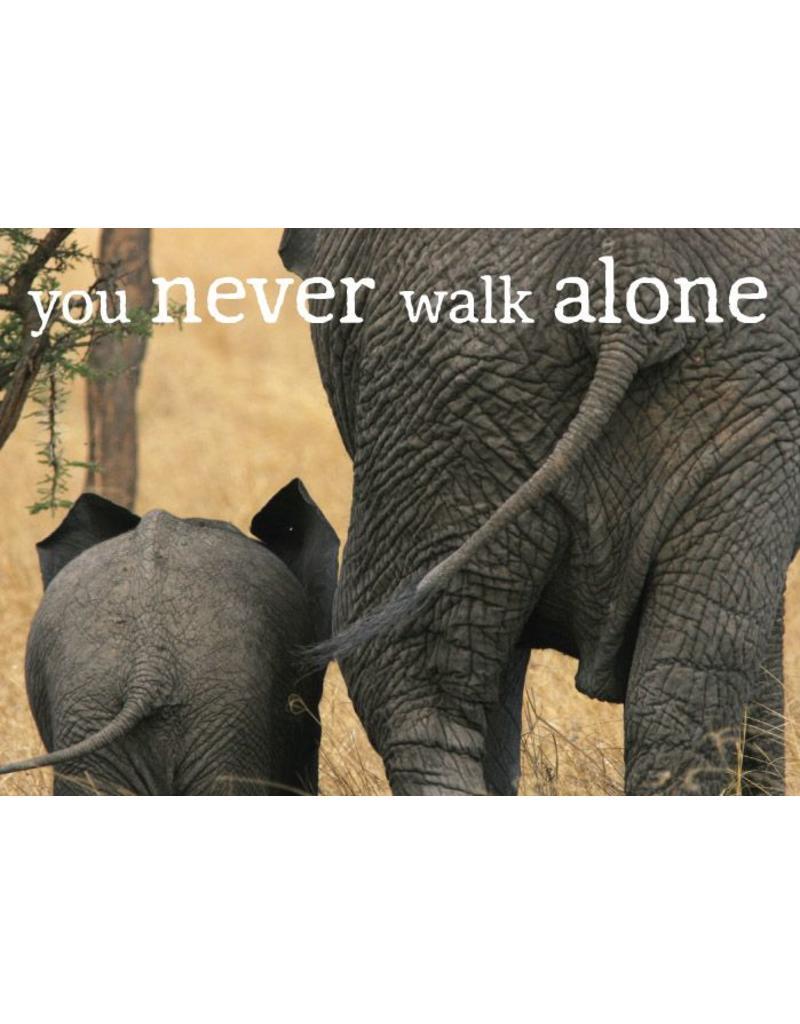 Zintenz You never walk alone briefkaart