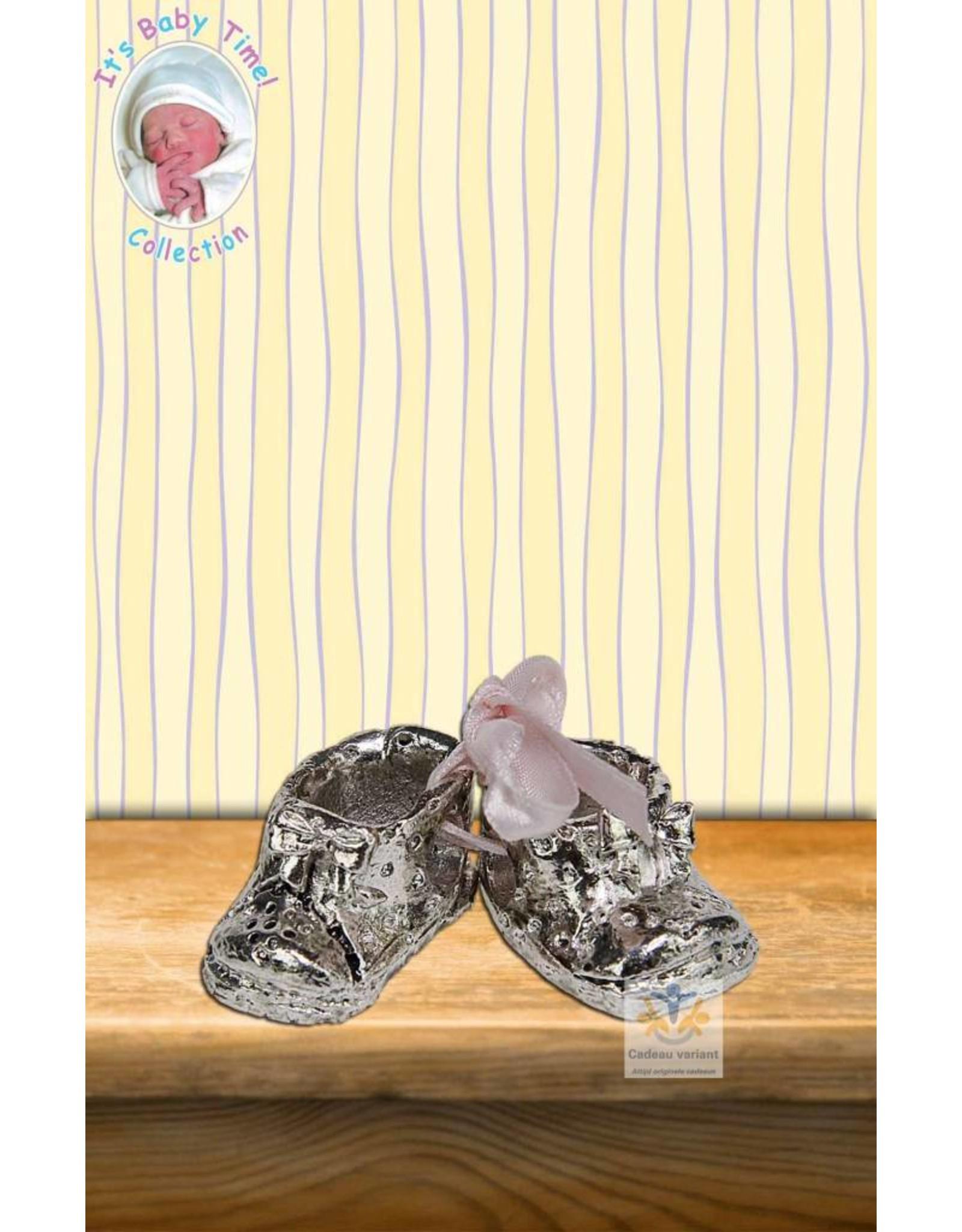 Babyschoen met roze strik